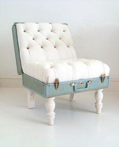 DIY suitcase chair