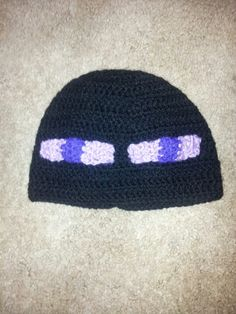 Crochet Minecraft Enderman hat. (video game)