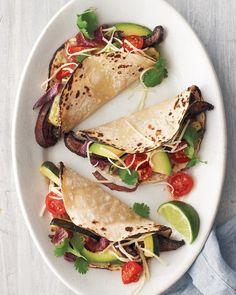 Portobello-and-Zucchini Tacos / Martha Stewart