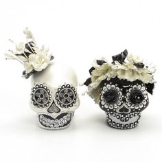 Skull Wedding Cake Topper A00151
