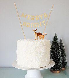 DIY Mini Banner Cake Topper - Confetti Pop