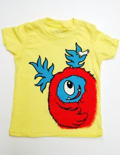 Coming soon! Kid's Monster TShirt  Yellow with Red Monster size 2T by dkoss2, $20.00