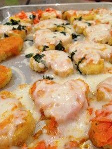 @Freshmade NYC's heart shaped polenta pizzas