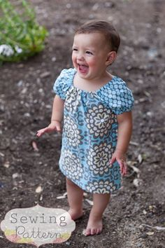 Janey Dress (Size 6/9 months to SIze 6) PDF Sewing Pattern and Tutorial