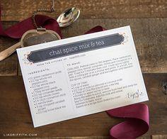 Imprimible editable para recetas >> Printable editable text recipe cards