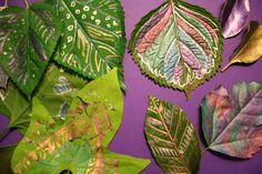 Pink and Green Mama Leaves with Metallic markers