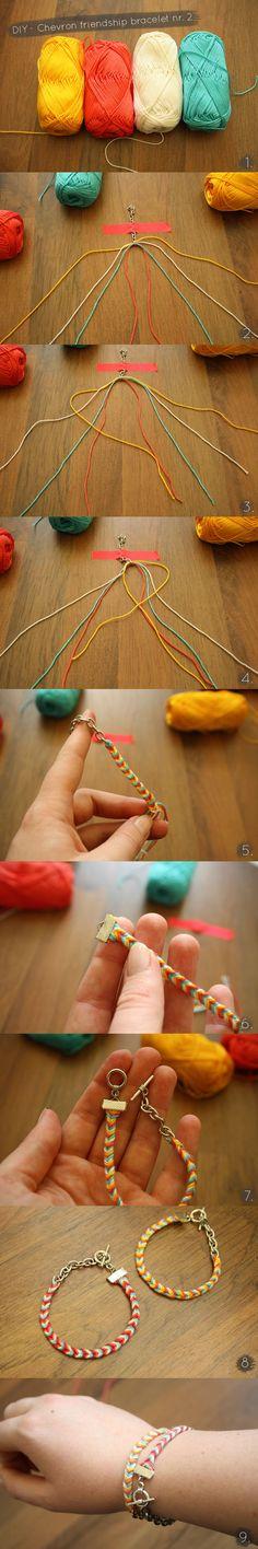 chevron friendship bracelet nr 2 tutorial