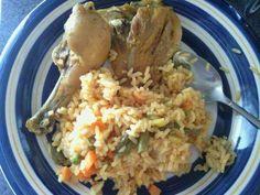 Haitian rice and chicken