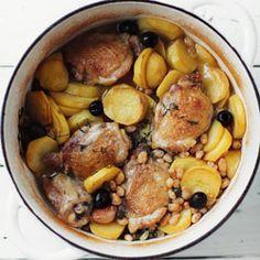 Casserole z kurczakiem, ziemniakami i fasolką - Przepis
