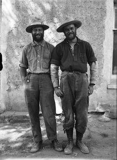 Archaeologist Alfred Kidder and friend after Utah tripPhotographer: Jesse NusbaumDate: 1912Negative Number 060648