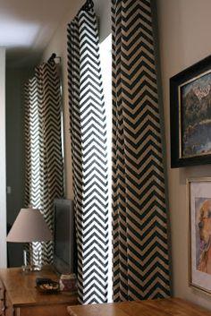 chevron curtain panels