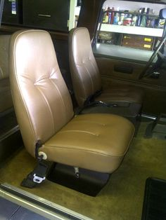 1976 International Scout interior bucket seats.