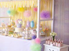 Pastel Baby Shower #pastel #babyshower