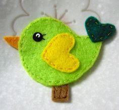 felt bird #diy #crafts