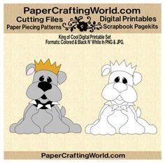 Bulldog, King of Cool Digital Printable. Direct Link: http://www.papercraftingworld.com/item_866/Bulldog-King-of-Cool-DS.htm