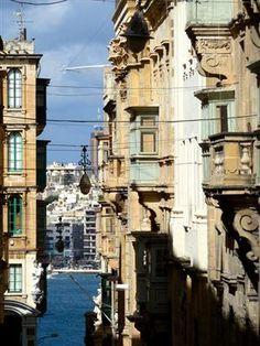 | ? | Valletta - glimpse of harbor, Malta | by © Federica