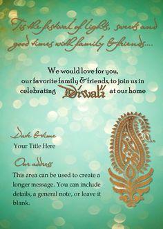 Diwali dinner invitation wording invitationswedd diwali invitations and wordings stopboris Choice Image