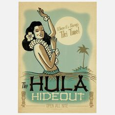 Hula Hideout Print, £20, now featured on Fab.