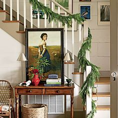 Pure Country Christmas Farmhouse | The Entry | SouthernLiving.com