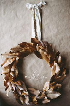 diy Magnolia Wreath |
