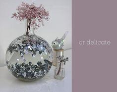 vase, disco ball, sequin decor wedding, idea, shower centerpieces