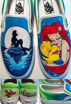 Little Mermaid Shoes on Etsy, $135.00
