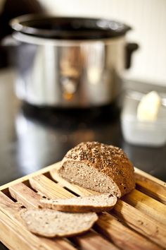 g-f crock pot.  I've tried one recipe, but not this one...  I love the idea of baking fresh bread in the summer without the hot oven.