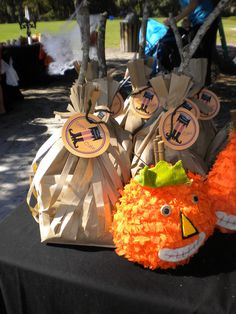 Halloween broomstick party favors