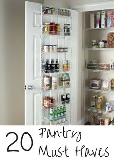 20 Pantry Must Haves