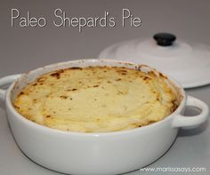 Healthy Shepard's Pie with cauliflower mash topping instead of mashed potatoes #paleo #glutenfree