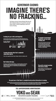 Artists against Fracking @Matt Valk Chuah New York Times fracking ad Yoko Ono & Sean Lennon