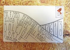 envelope art, inspir envelop, cool envelope addressing, cool way to address envelopes