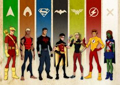 Young Justice. I like the picture but where's Artemis???? WONDER GIRL WASN'T EVEN PART OF THE ORIGINAL TEAM WHAT THE HELL. YOU CAN'T REPLACE A BLONDE WITH ANOTHER BLONDE