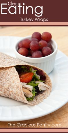Clean Eating Turkey Wraps #CleanEating #EatClean #Lunch