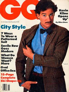 Kevin Kline for GQ, November 1987