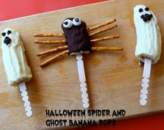 Spider and Ghost Banana Pops