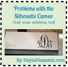 Problems with Silhouette Cameo