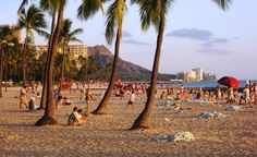 Waikiki Beach in Hawaii. From: 40 Beautiful Places Where Spring Has Already Started. #budgettravel #travel