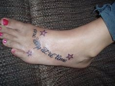 one step at a time tattoos | one step at a time'' tattoo under the ankle