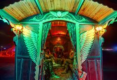 Ornate entrance to the gypsy wagon photo