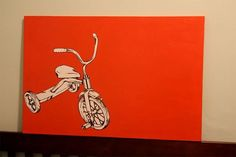 Cute modern art, substitute tricycle with cute animal.