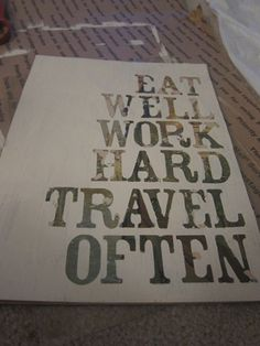 i like this for the kitchen...on mirror...more DIY quote art!
