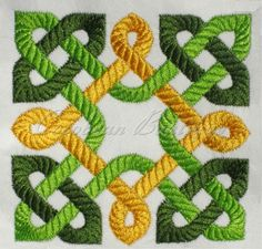 Celtic Knot machine embroidery by CocobeanBoutique on Etsy, $5.00