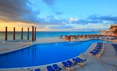 Krystal Cancun makes the most of its Riviera Maya location: The pool runs lengthwise along the sand, and there's even a beachfront infinity whirlpool. (From: Photos: Best Beachfront All-Inclusive Resorts that Fit Your Budget).