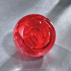 Rose Eternal Torchwork Paperweight