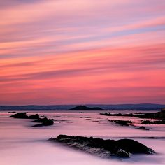 The shore of the North Sea truly is this breathtaking at dawn. - Kirkcaldy, Fife, Scotland