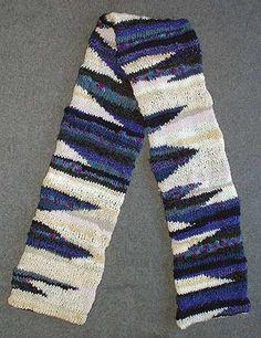 Odd Ball  Scarf Knitting Pattern