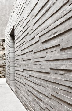 luv the geometry of this #concrete structured wall