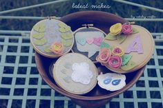 Latest-Makes-by-CatshyCrafts // felt applique embroidery hoop art // Catshy Crafts // catshycrafts.com // catshycrafts.etsy.com