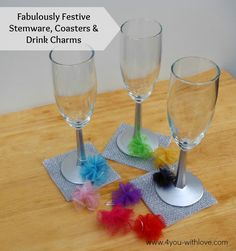 4 You With Love: #FabulouslyFestive Stemware, Coasters, and Drink Charms